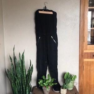 Black tube top style Bar III jumpsuit